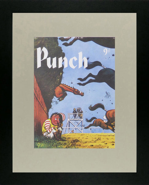 Punch Cartoon Art Cover Art A racing scene  Norman Thelwell (1961)