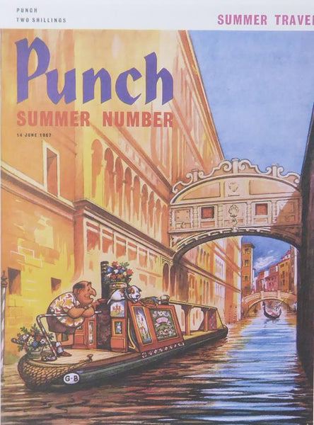 Punch Cartoon Art Cover Art Punch summer number Norman Thelwell (1967)