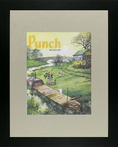Punch Cartoon Art Cover Art Barge in cutting Norman Thelwell (1963)