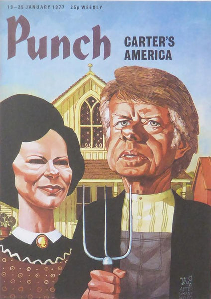 Punch Cartoon Art Cover Art Carters America Trog (Walter 'Wally' Fawkes) (1977)