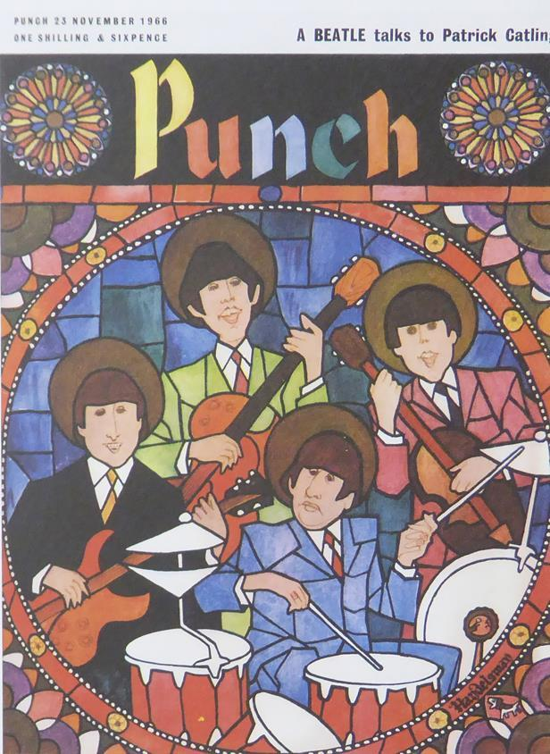 Punch Cartoon Art Cover Art A Beatle talks to Patrick Catling  John Bernard Handelsman (1965)