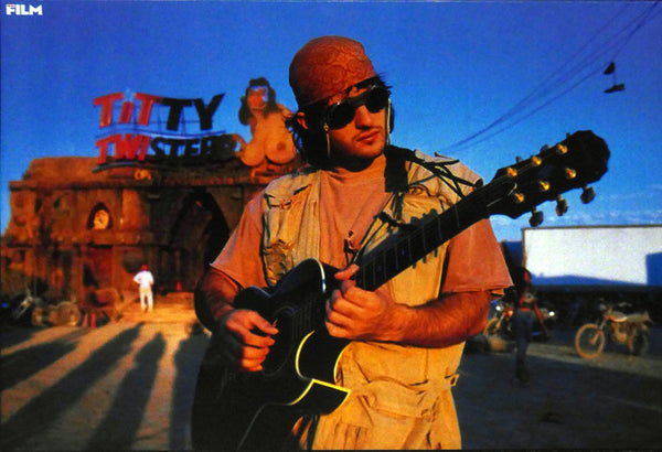 Robert Rodriguez in front of Titty Twister  From Dusk til Dawn