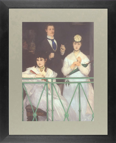 The balcony portrait of Manet and Manet's sister in law Edouard Manet