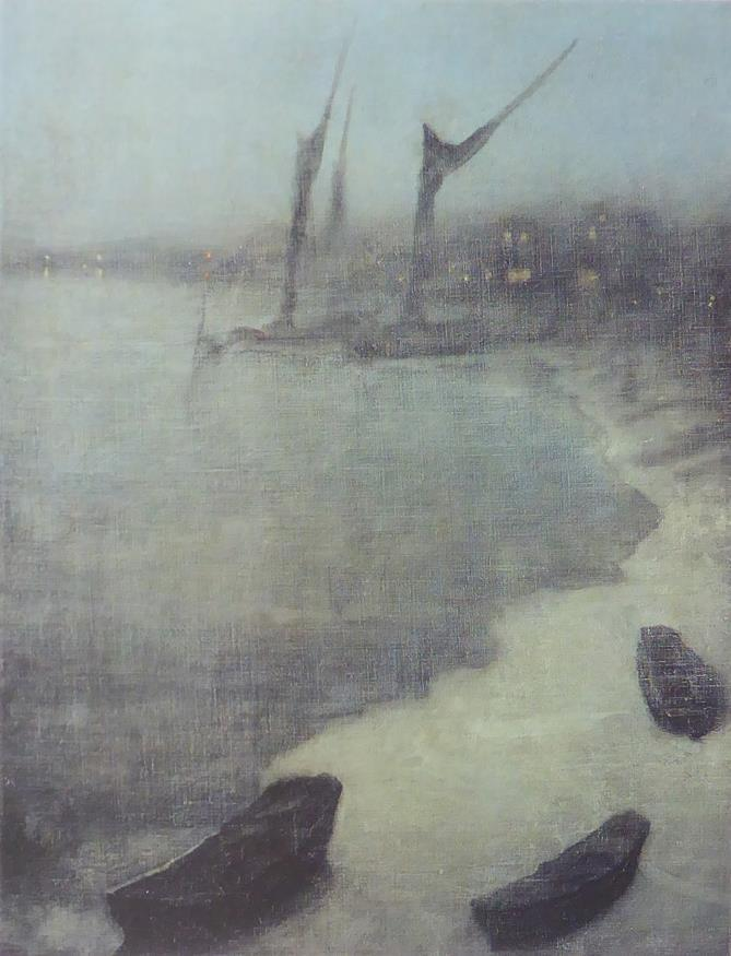 Nocturne Grey & Silver Chelsea Embankment Whistler