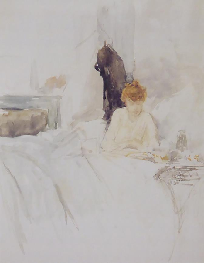 Maud reading in bed Whistler