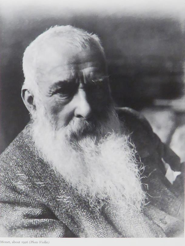 Monet, about 1926 (black & white)