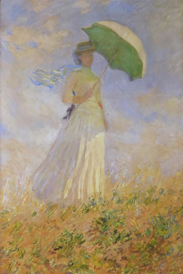 Lady with a parasol Monet