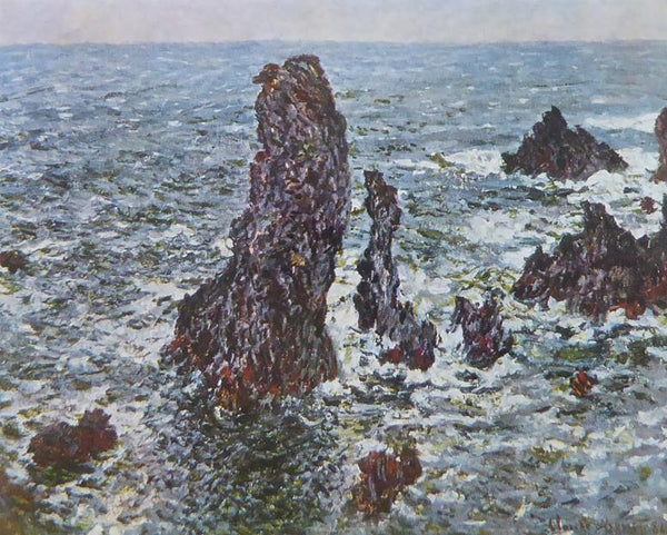 Rocks at Belle Ile Monet