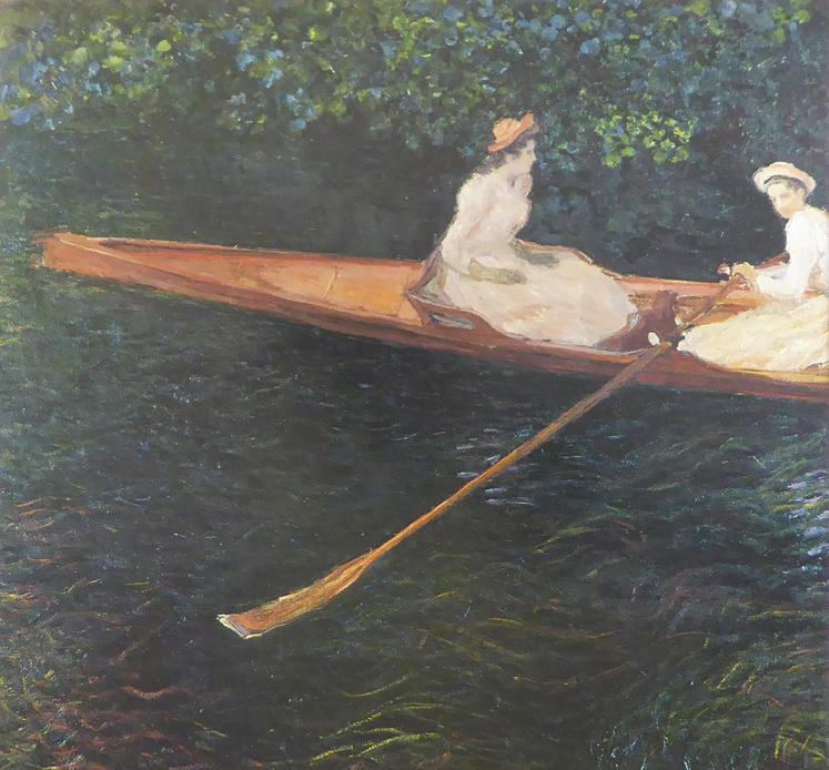Boating on the river Epte Monet