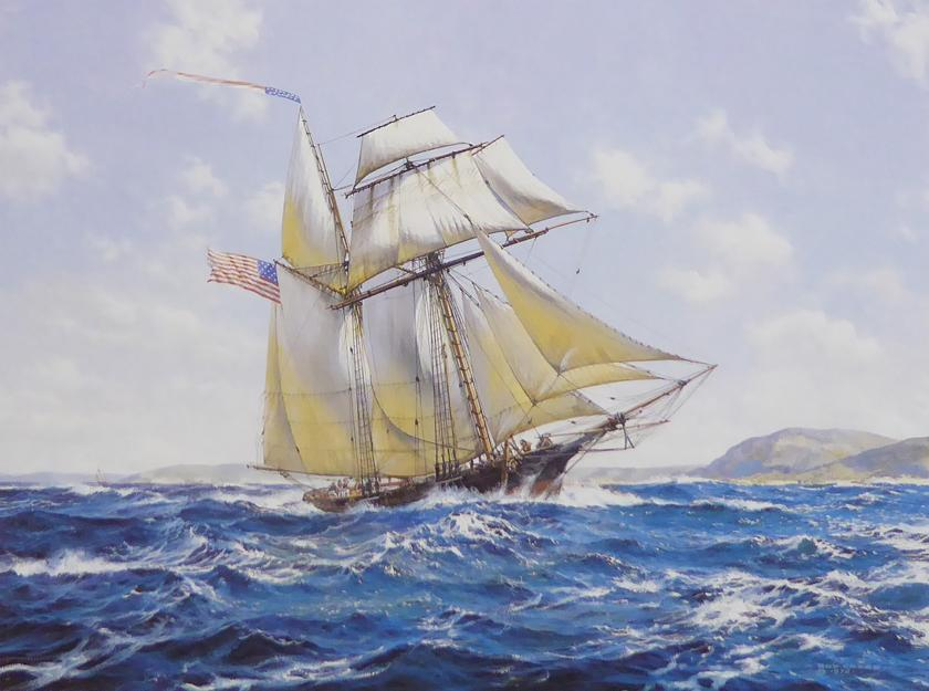 The privateer Lynx off the coast of Maine Roy Cross