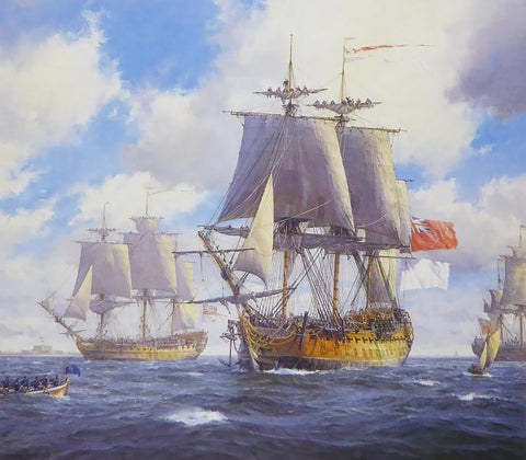 Bellona and Courageux coming home, Spithead Geoff Hunt