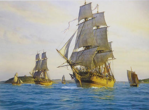 A Day dawn on Friday; Vancouver's voyage begins, Falmouth Mark R.Myers