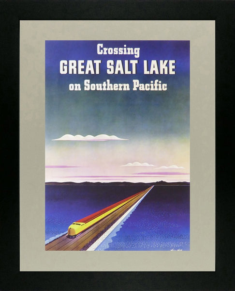 Crossing Great Salt Lake on Southern Pacific (Train)