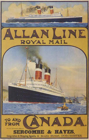 Allan Line Royal Mail to and from Canada (Ship)