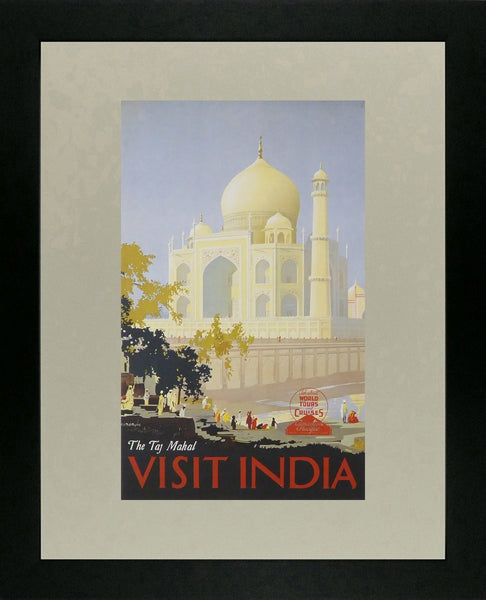 The Taj Mahal, visit India Canadian Pacific Framed Picture