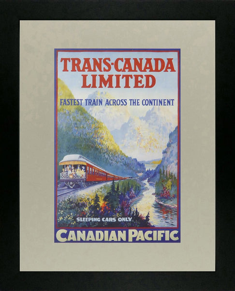 Trans Canada Ltd sleeping cars only Canadian Pacific Framed Picture