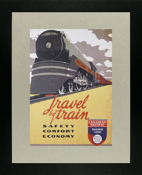 Travel by Train Canadian Pacific Framed Picture