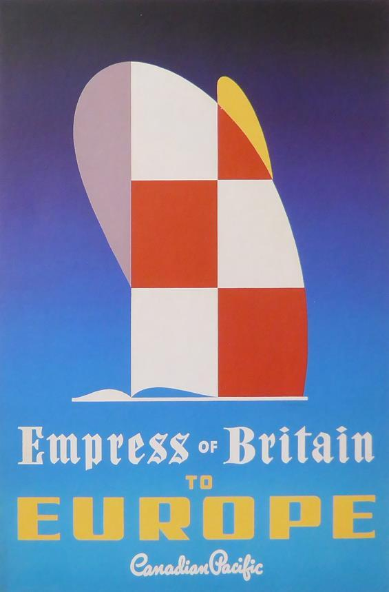 Empress of Britain to Europe Canadian Pacific Framed Picture