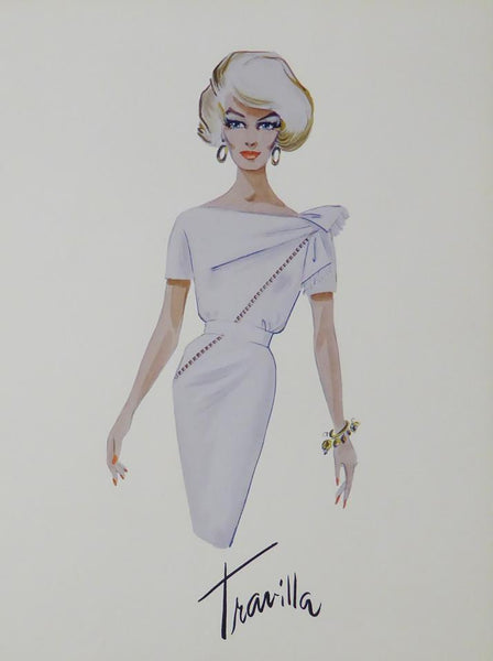 Marilyn Monroe in white dress (Printed sketch)
