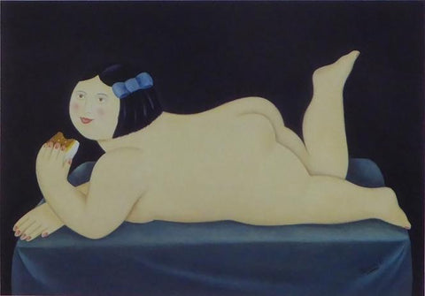 A Piece of Cake, 1995 Caricature Nude