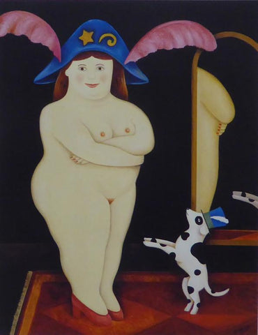 Zola and Spot, 1996 Caricature Nude