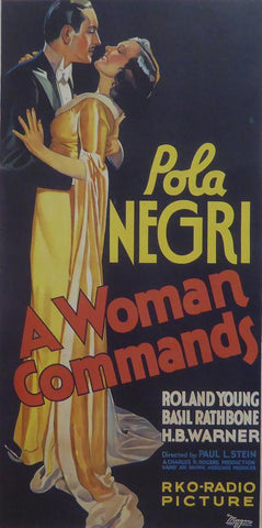 A Woman Commands (1) Pola Negri Movie Poster