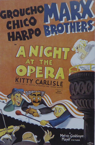 A Night at the Opera (3) The Marx Brothers Movie Poster