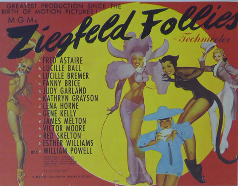 Ziegfeld Follies Fred Astaire Movie Poster