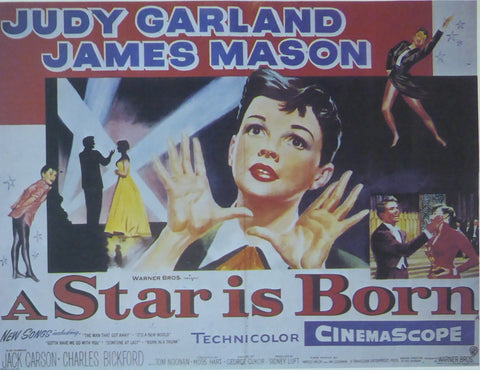 A Star Is Born Judy Garland Movie Poster