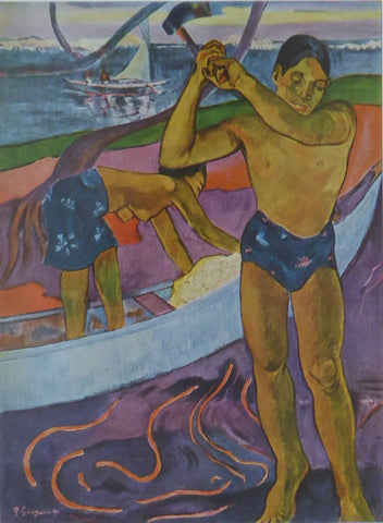 Man with an Axe Paul Gauguin