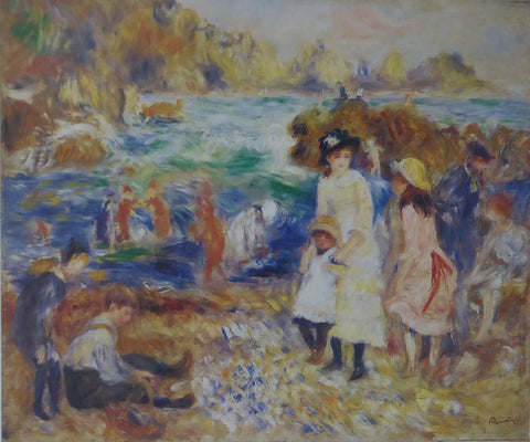 Children at the Beach at Guernsey Renoir