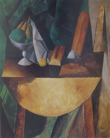 Bread and Fruit Dish on a Table Picasso