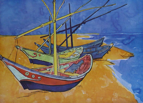 Boats at Saintes Maries Van Gogh