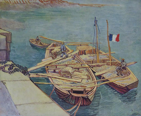 Boats on the Rhone Van Gogh