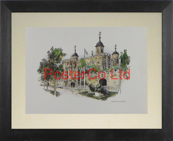 "The Tower of London - Framed Print - 11""H x 14""W"