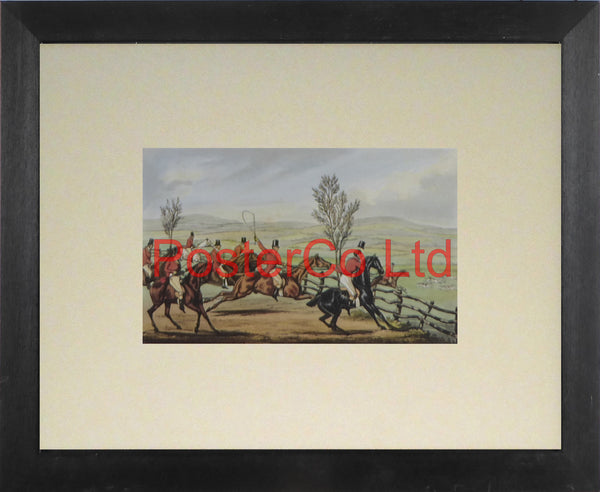 "Now For The Honor Of Shropshire - TJ Rawlins / Henry Thomas Alken - Framed Print - 11""H x 14""W"