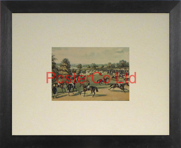 "Epsom, Preparing to Start - James Pollard - Framed Print - 11""H x 14""W"