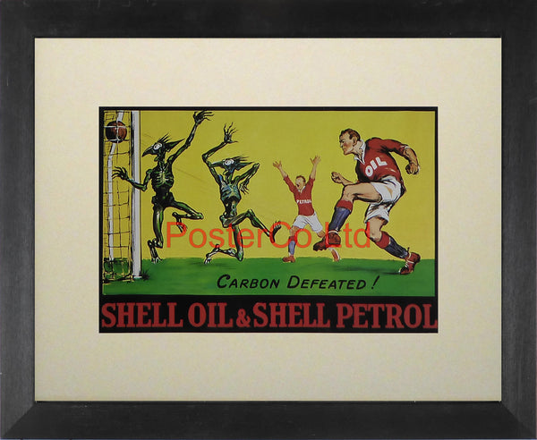 "Shell Advert - Carbon Defeated - Framed Picture - 11""H x 14""W"