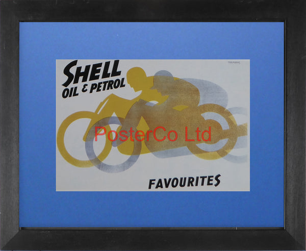 "Shell Advert - Shell Favourites (1928) - Tom Purvis - Framed Picture - 11""H x 14""W"