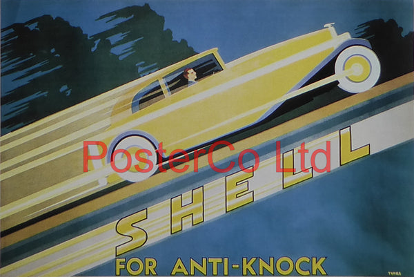 "Shell Advert - Shell for Anti Knock (1930) - Framed Picture - 11""H x 14""W"