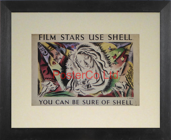 "Shell Advert - Film Stars Use Shell (1938) - C Mann  - Framed Picture - 11""H x 14""W"