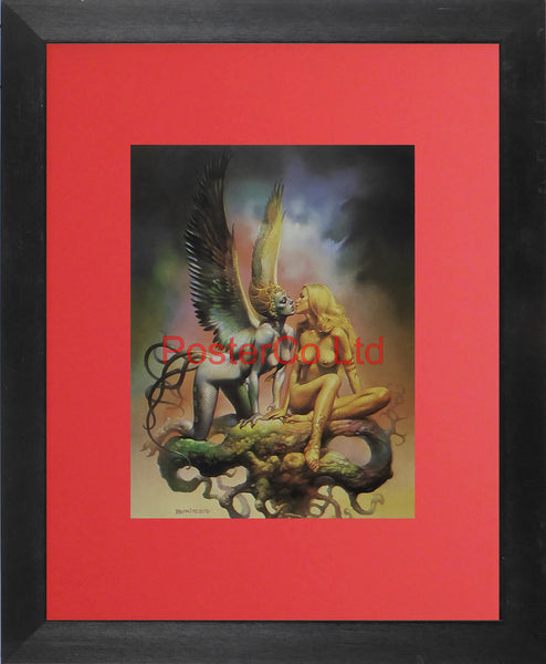 "Siren Song - Boris Vallejo - Framed Plate - 14""H x 11""W"