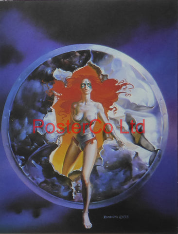 "Breaking Through - Boris Vallejo - Framed Plate - 14""H x 11""W"