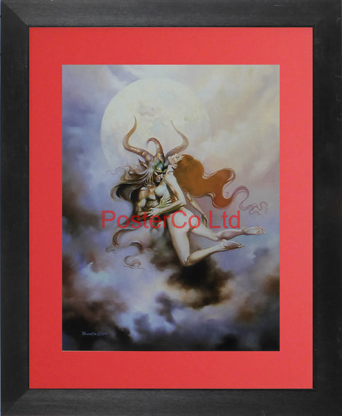 "Embrace - Boris Vallejo - Framed Plate - 14""H x 11""W"