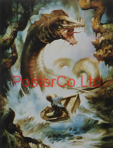 "Busch Gardens, The Loch Ness Monster Lives - Boris Vallejo - Framed Plate - 14""H x 11""W"