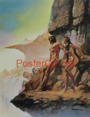 "At the Edge of the World - Boris Vallejo - Framed Plate - 14""H x 11""W"