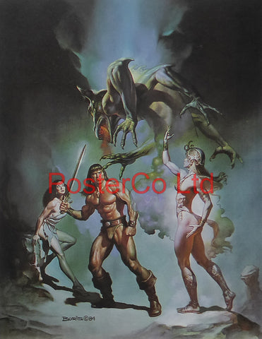 "Conan The Victorious / Against the Odds - Boris Vallejo - Framed Plate - 14""H x 11""W"