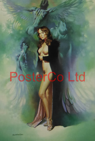 "Black Robe - Boris Vallejo - Framed Plate - 14""H x 11""W"