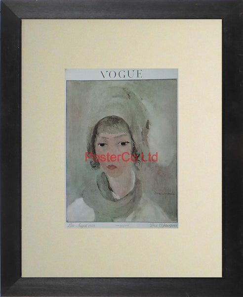 "Vogue Magazine Cover Art - August 1923 - Framed Plate - 14""H x 11""W"