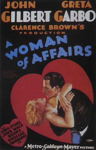A Woman of Affairs Greta Garbo 1928 Movie Poster